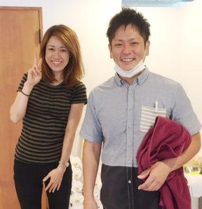 慢性的な肩こり、足のだるさ 京都市中京区四条大宮 20代 女性