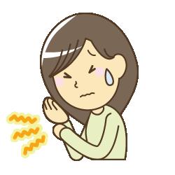 京都市 中京区 四条大宮 藤枝整骨院 手首が痛い女性のイラスト