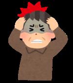 群発頭痛の男性